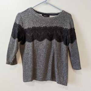 ☕ style & co. Black and grey top size M